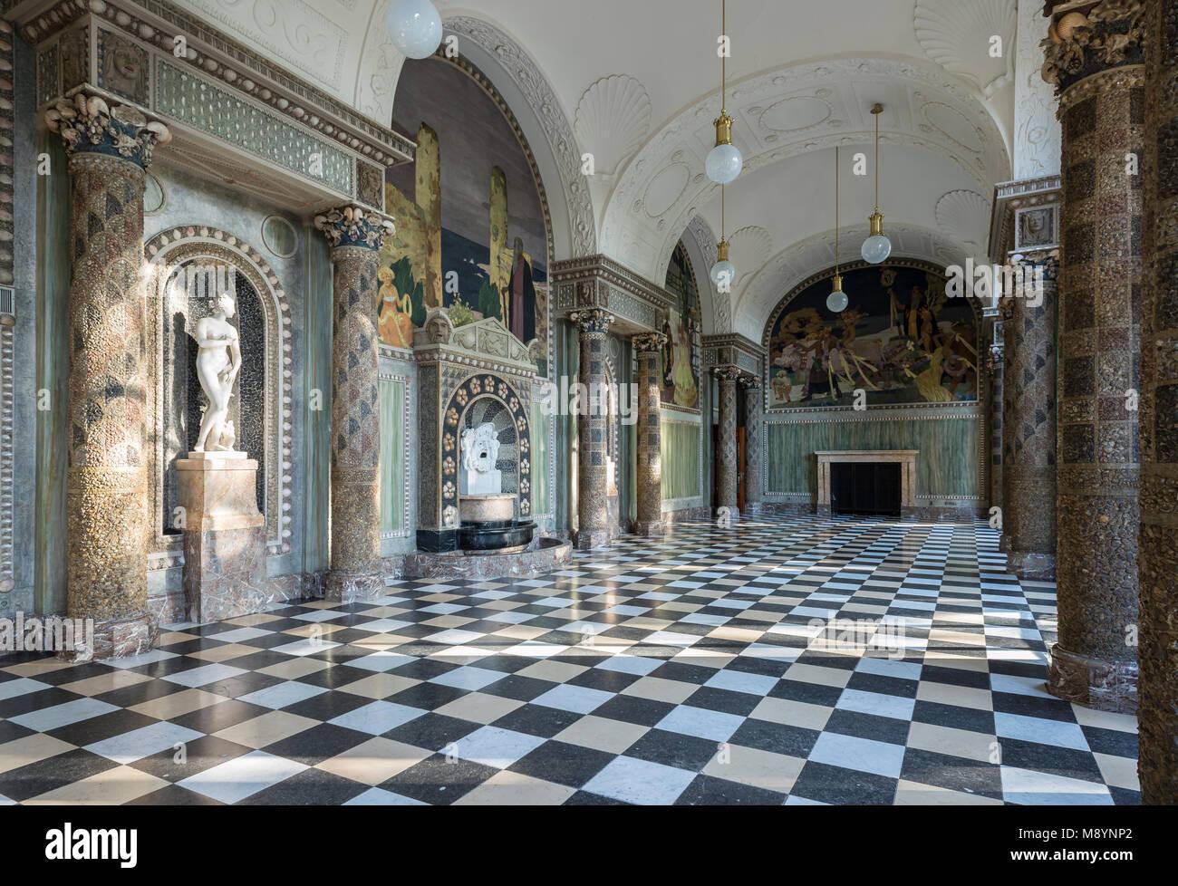 Kurhaus, Muschelsaal, Wiesbaden, Hessen, Deutschland - Stock Image