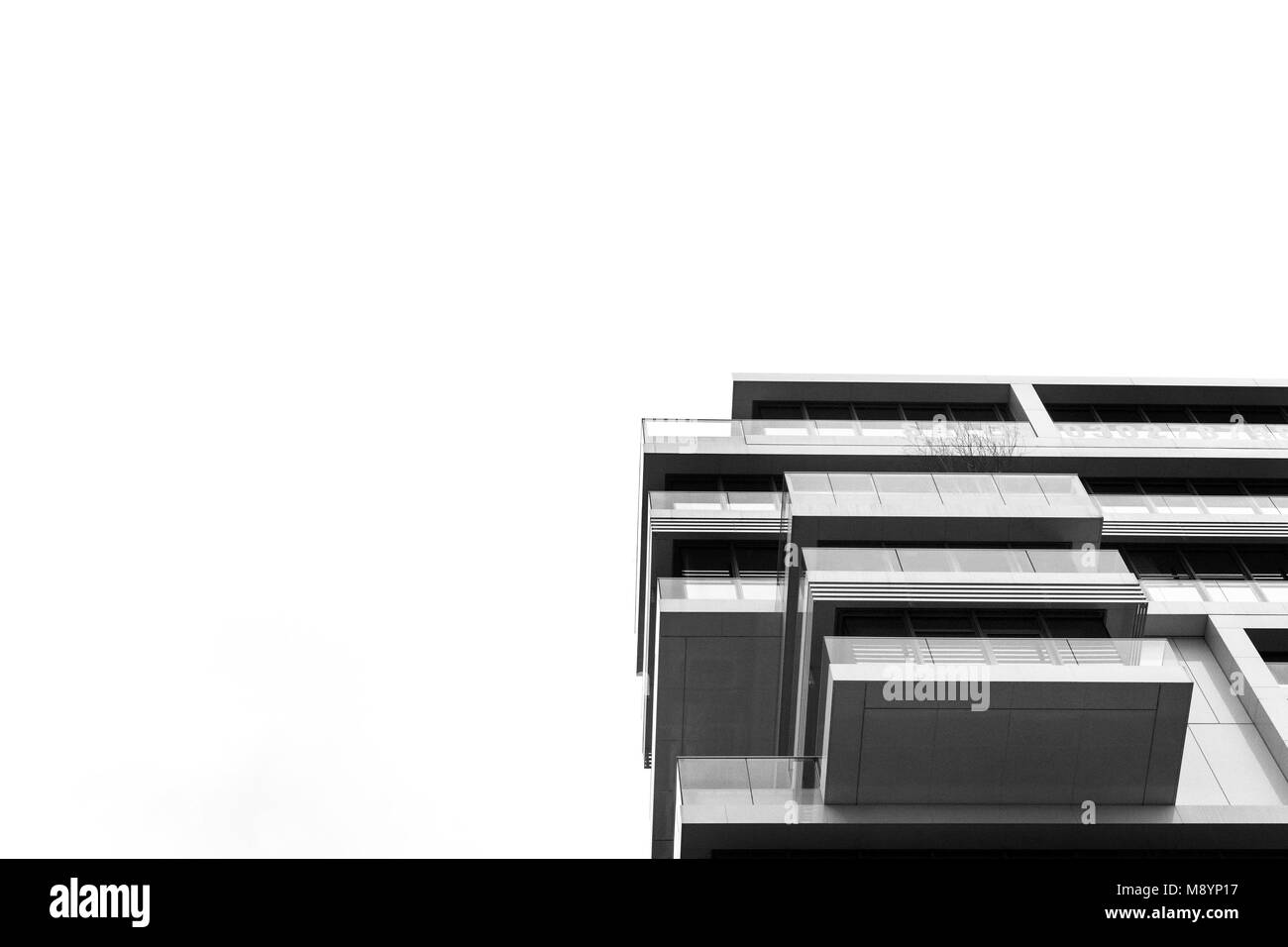 Berlin, Germany, 13th March 2018. German architecture in black and white. - Stock Image