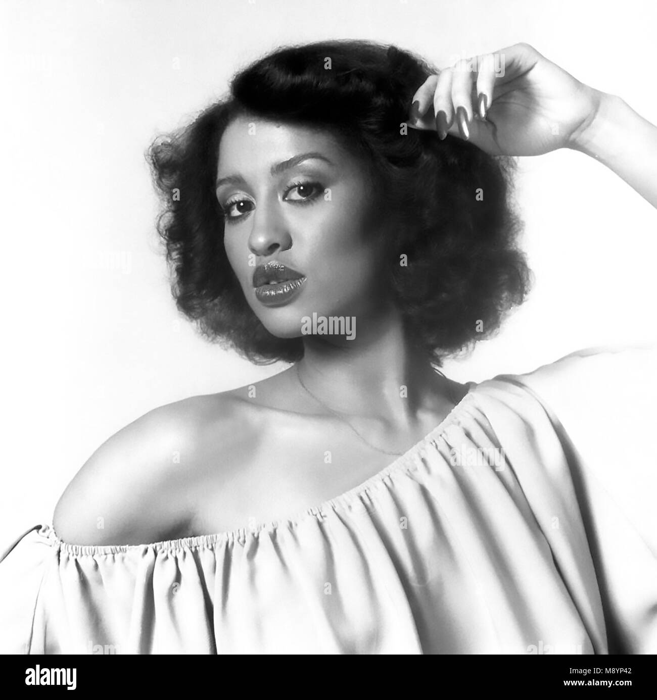 PHYLLIS HARMAN Promotional photo of American singer about 1982 - Stock Image
