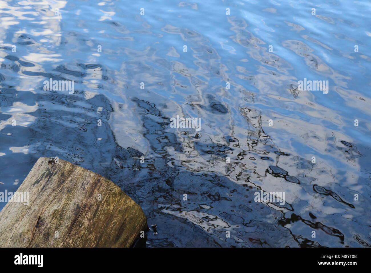 Abstract backgrounds, water, reflections - Stock Image