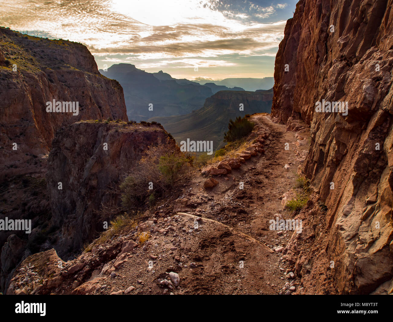 Grand Canyon Trail, South Kaibab, Grand Canyon National Park - Stock Image