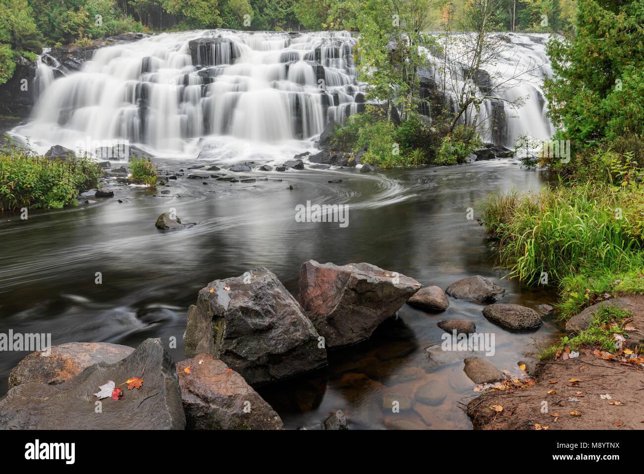 Bond Falls, Upper Peninsula, MI, USA, late September, by Dominique Braud/Dembinsky Photo AssocStock Photo