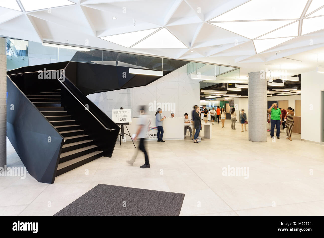 The main lobby inside the Bergeron Centre for Engineering Excellence at York University's Keele Campus in Toronto, - Stock Image