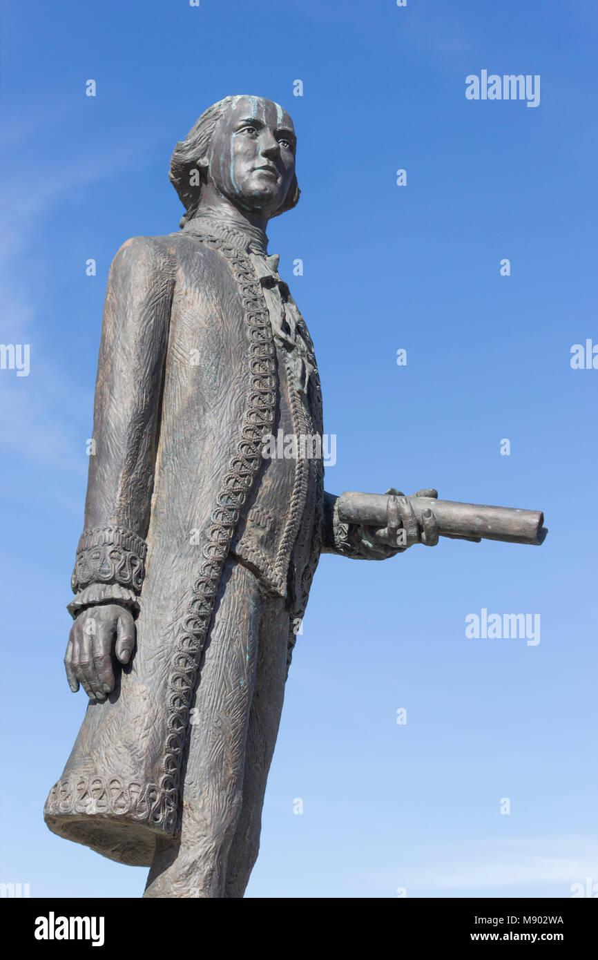 Macharaviaya, Málaga, Spain.  Statue of Bernardo Vicente de Gálvez y Madrid, Viscount of Galveston and - Stock Image