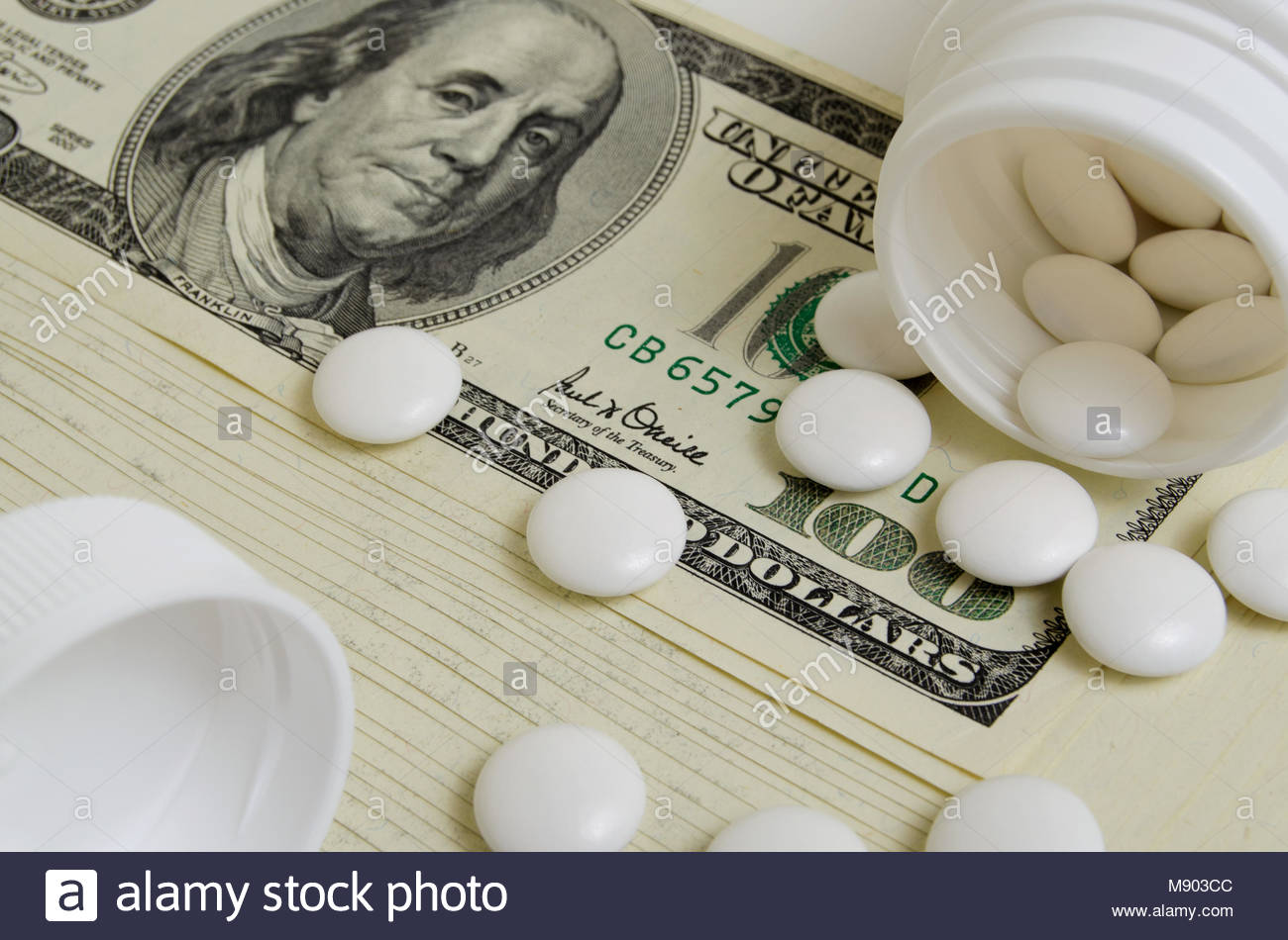 Speculation medicines and pharmaceutical machinations concerns. - Stock Image