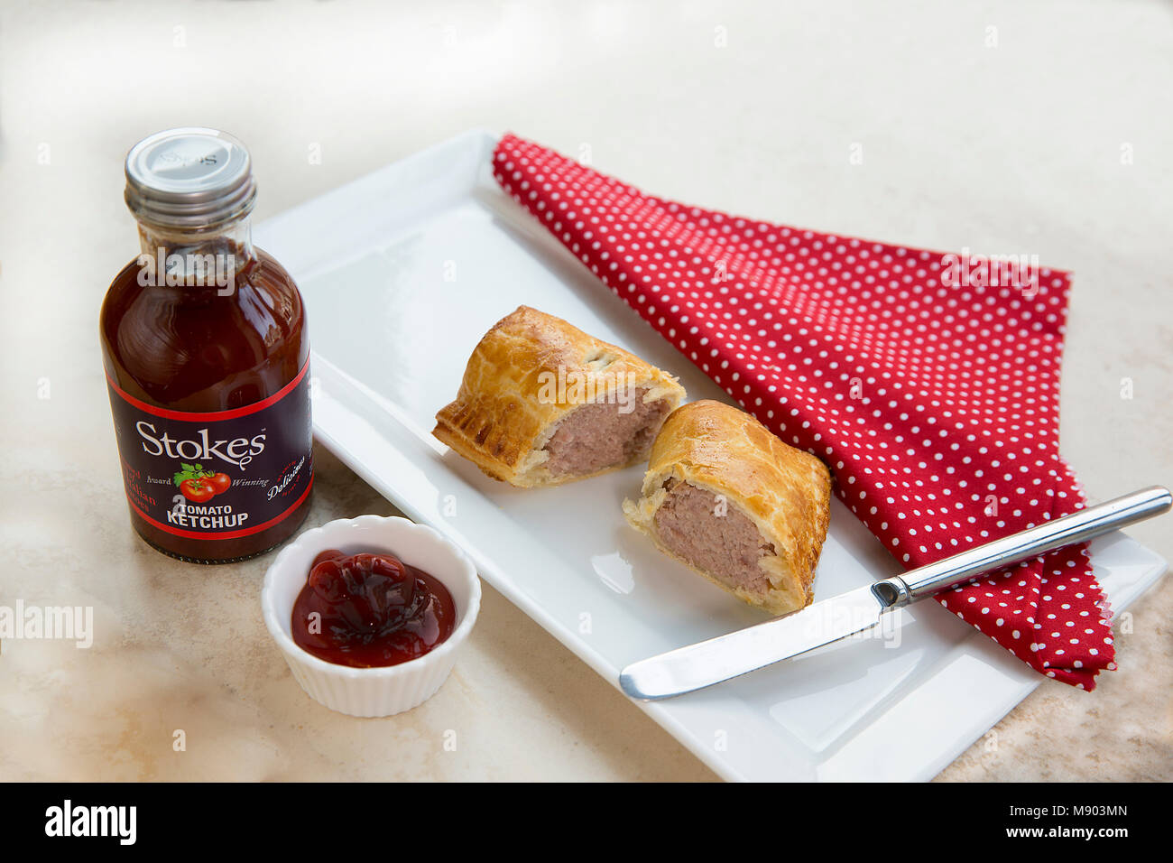 Small Sausage Roll - Stock Image