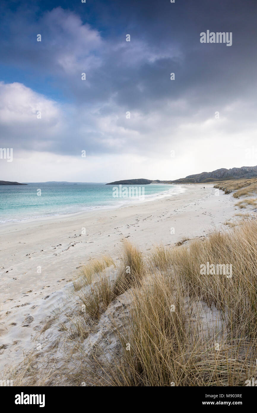 Traigh na Beirigh beach at Neep on the Isle of Lewis in the Outer Hebrides. - Stock Image
