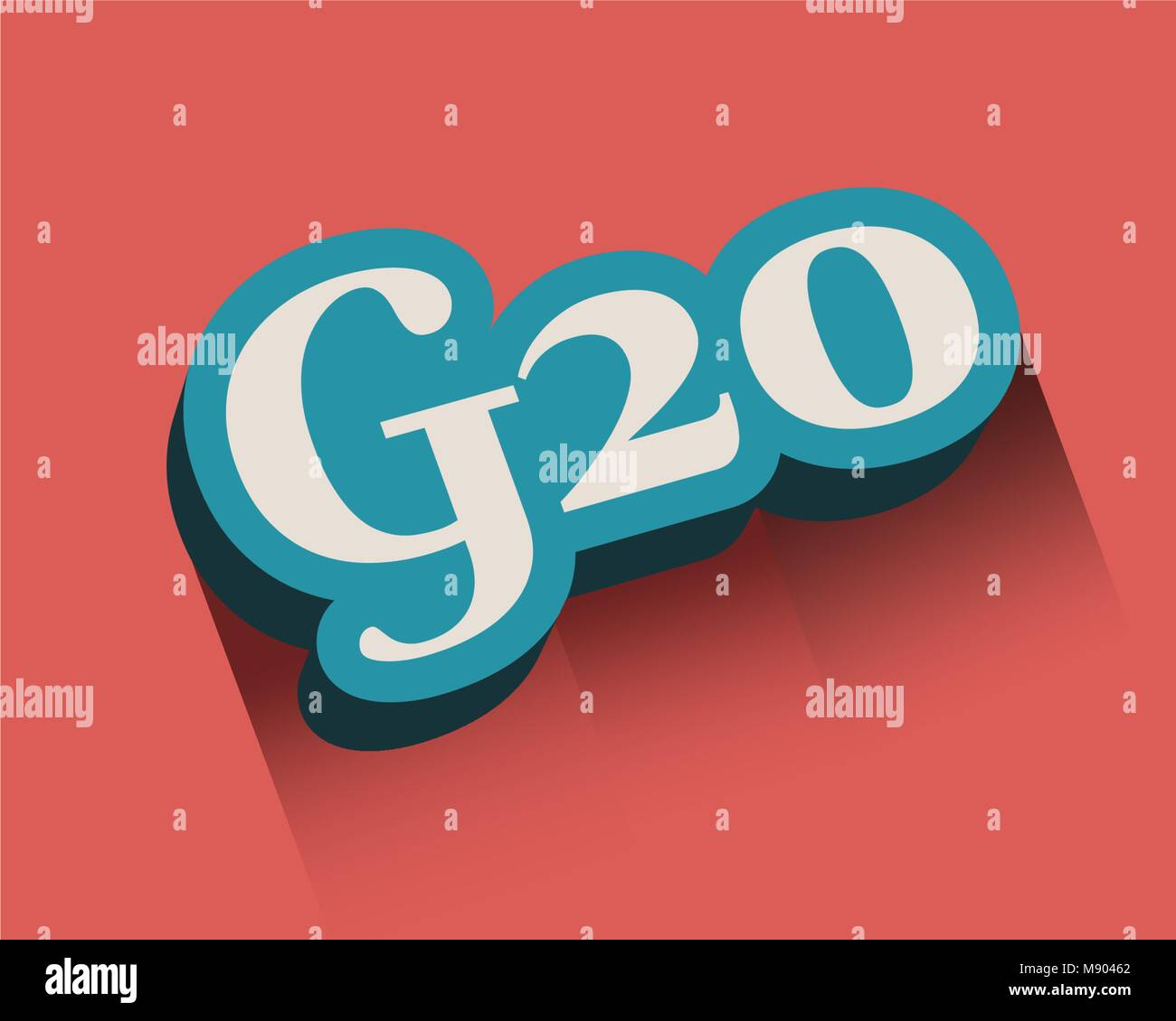 G and 20 Letter and Number - Stock Vector