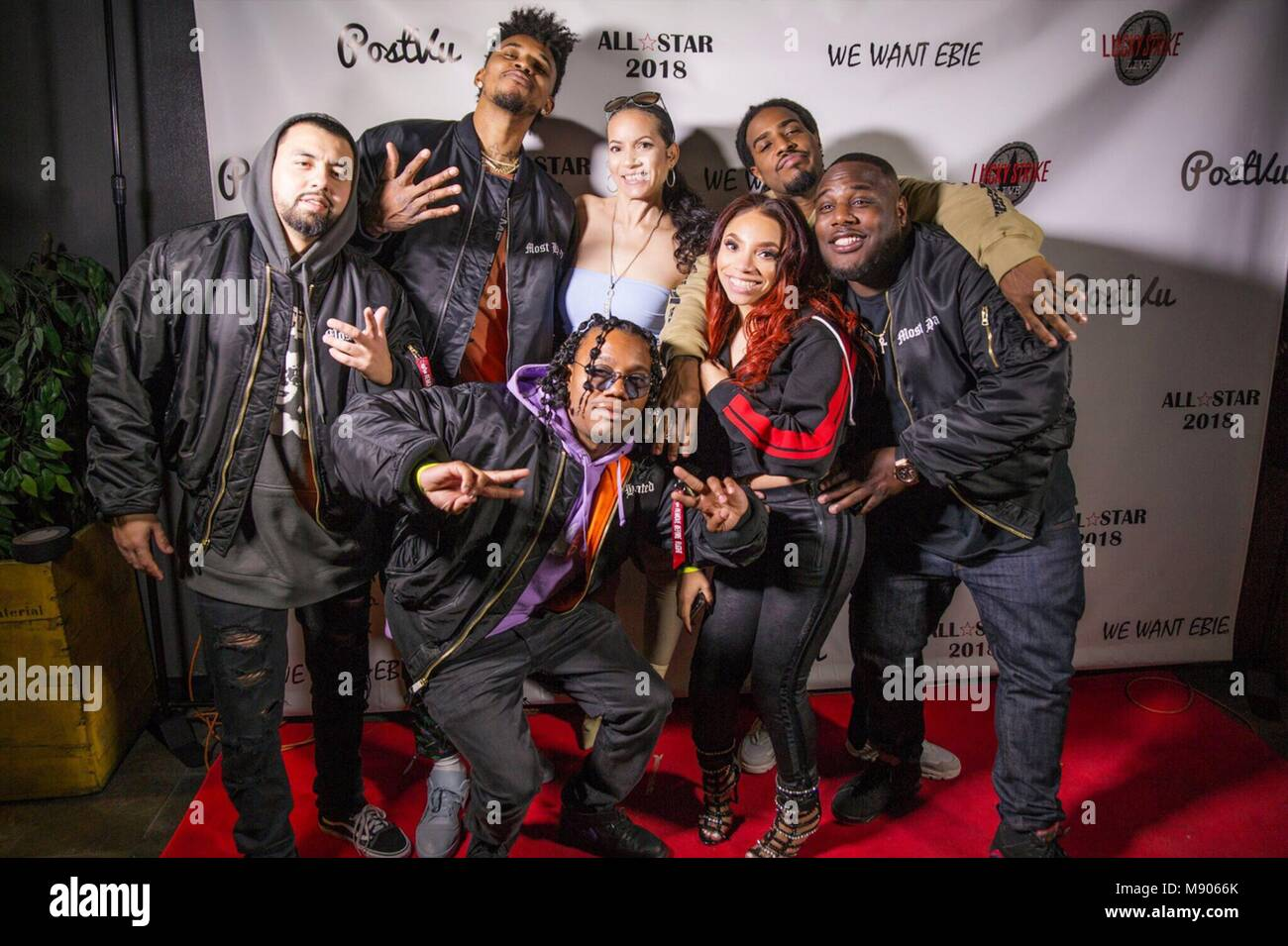 eazy es daughter ebie kicks off her new pr firm eazy street with tru johnson at lucky strike featuring ebie nick young marcus martin where los angeles
