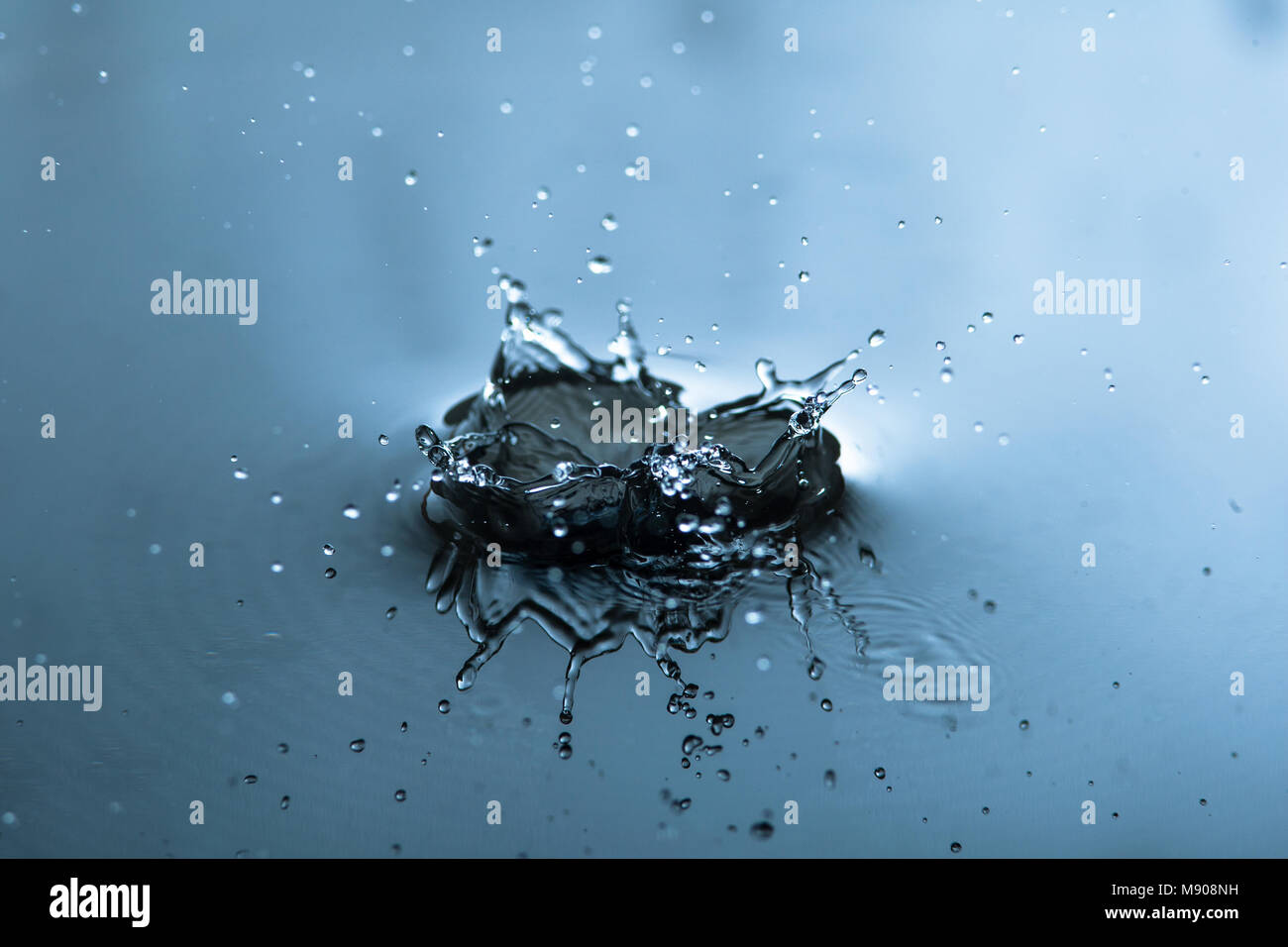 Water Splashing Macro, up-close - Stock Image
