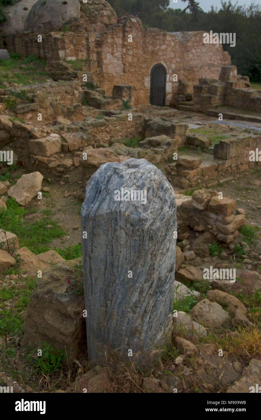 Saint Paul's pillar, Paphos, Cyprus, Mediterranean Stock Photo