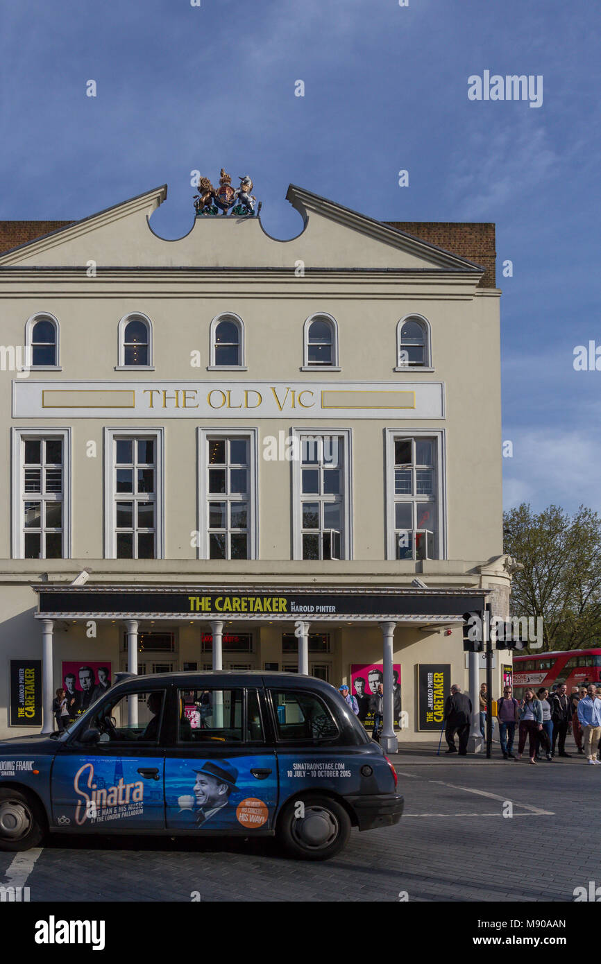 The Old Vic is a historic 1,000-seat, not-for-profit theatre , established in 1818 and housed in a grade II listed - Stock Image