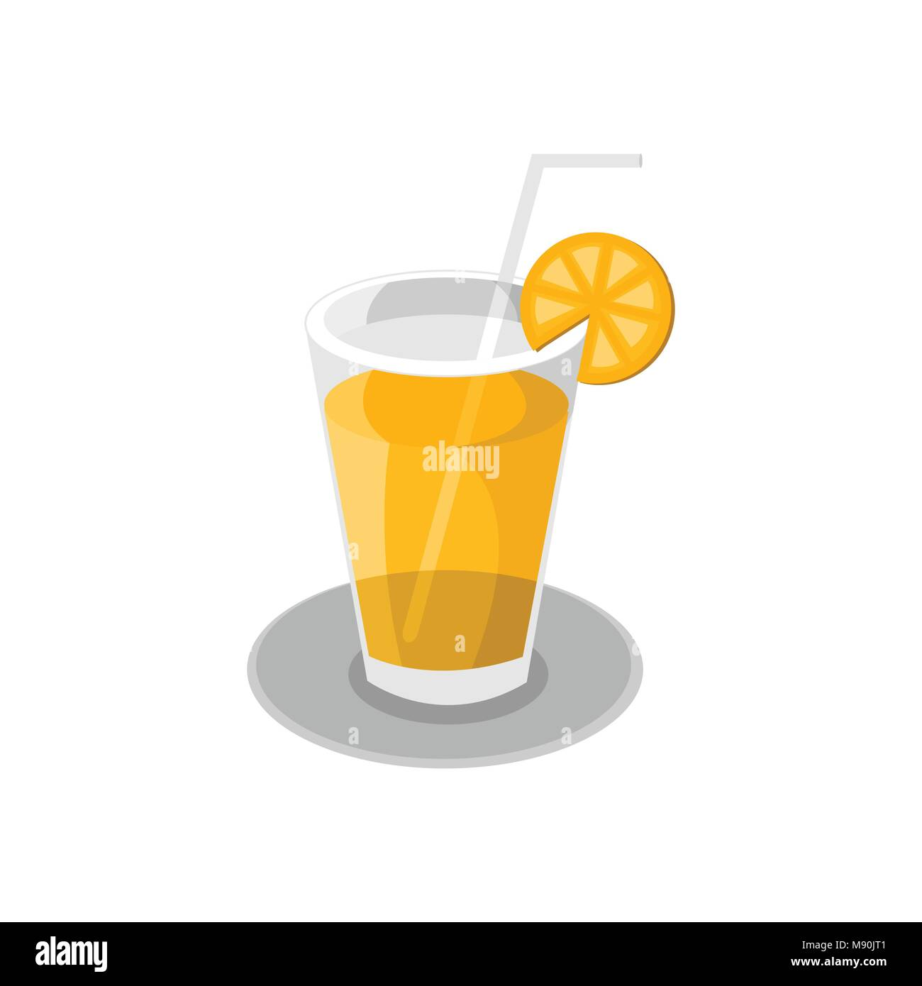 Fresh Orange Juice Cafe Vector Illustration Graphic Design Stock