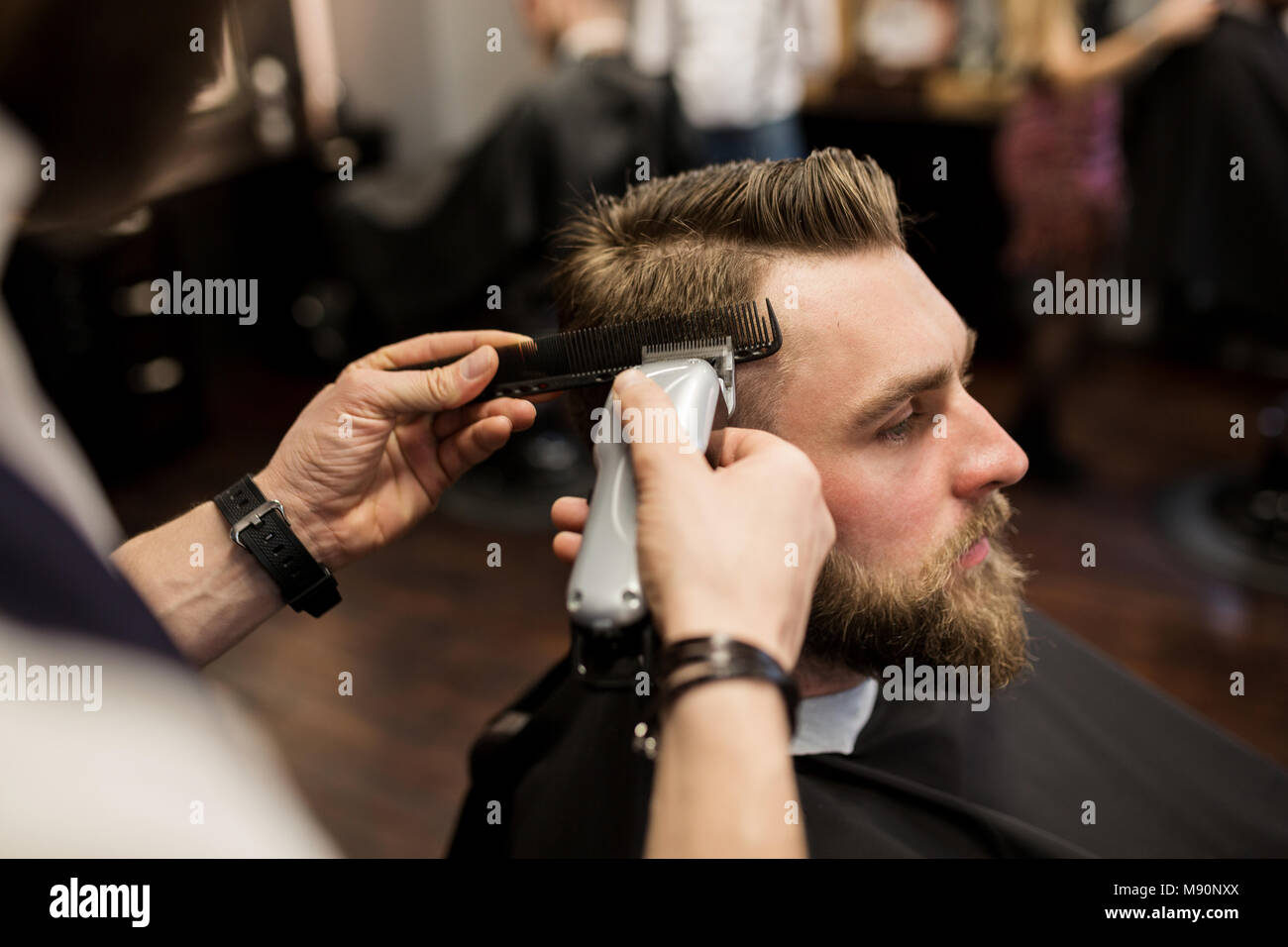 Side Shaved Haircut Stock Photos Side Shaved Haircut Stock Images