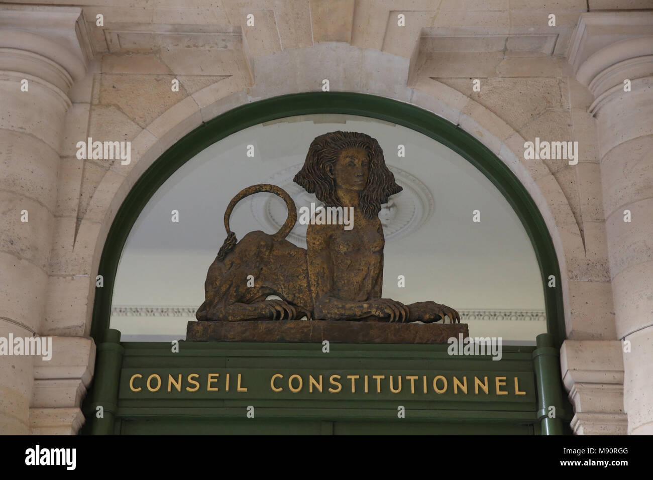 Conseil constitutionnel, Paris, France. - Stock Image
