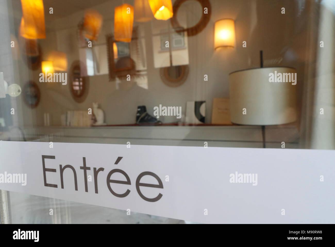 Hotel entrance. - Stock Image