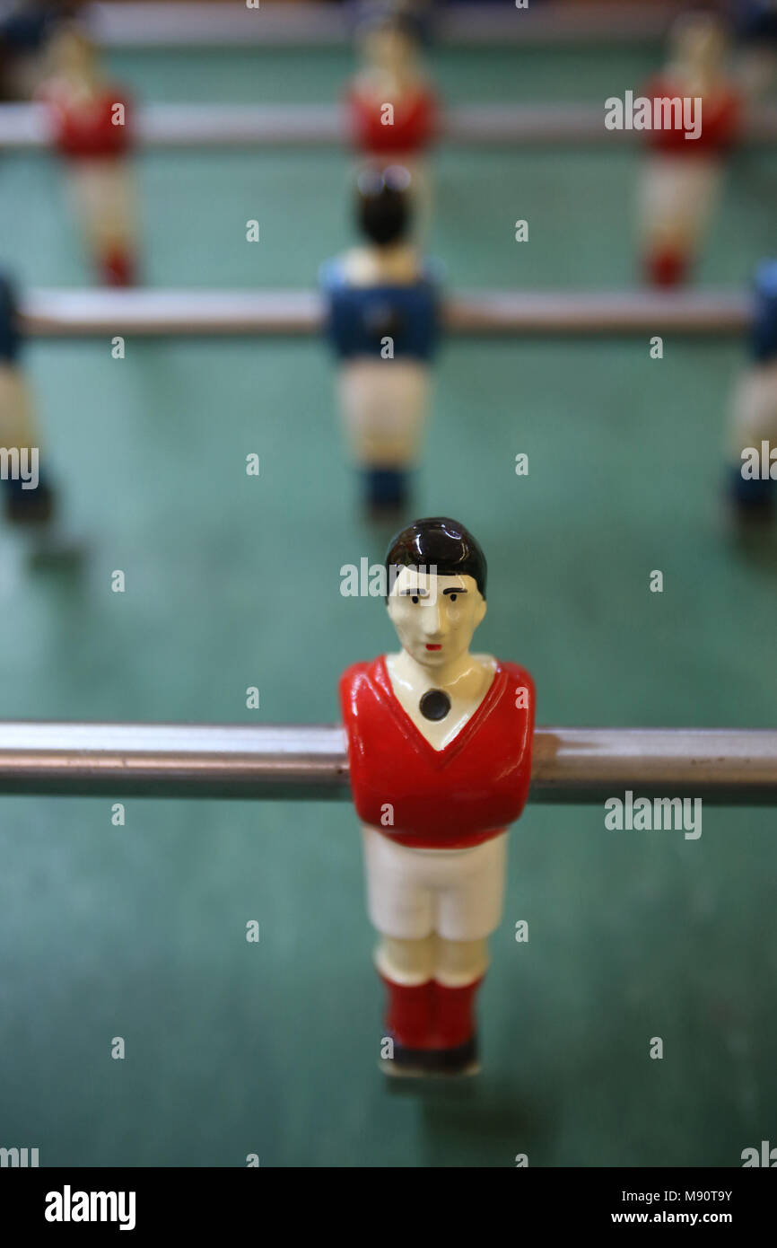 Table football. Cabourg, France. - Stock Image