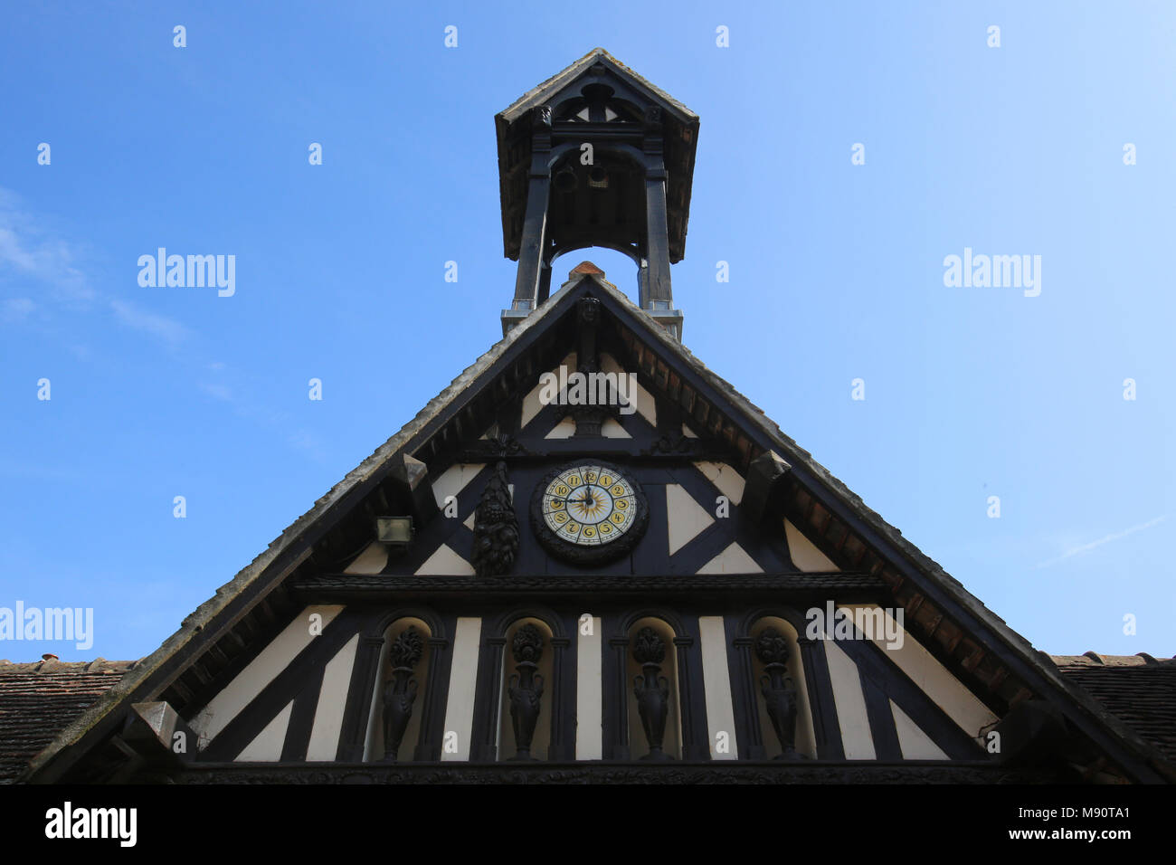 Arts and craft village in Dives sur Mer, France. Architectural detail. - Stock Image