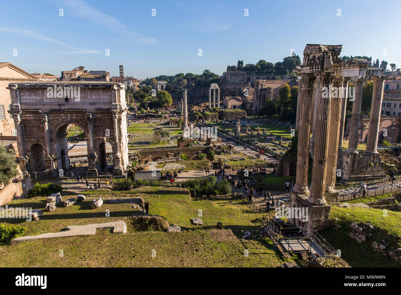 Roman Forum, Rome, Italy. - Stock Image
