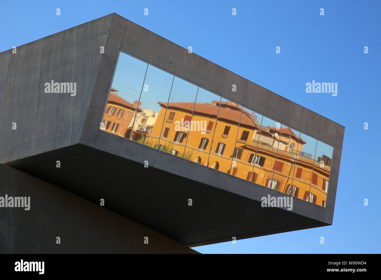 MAXXI, National museum of 21st century Art, Rome. Italy. - Stock Image