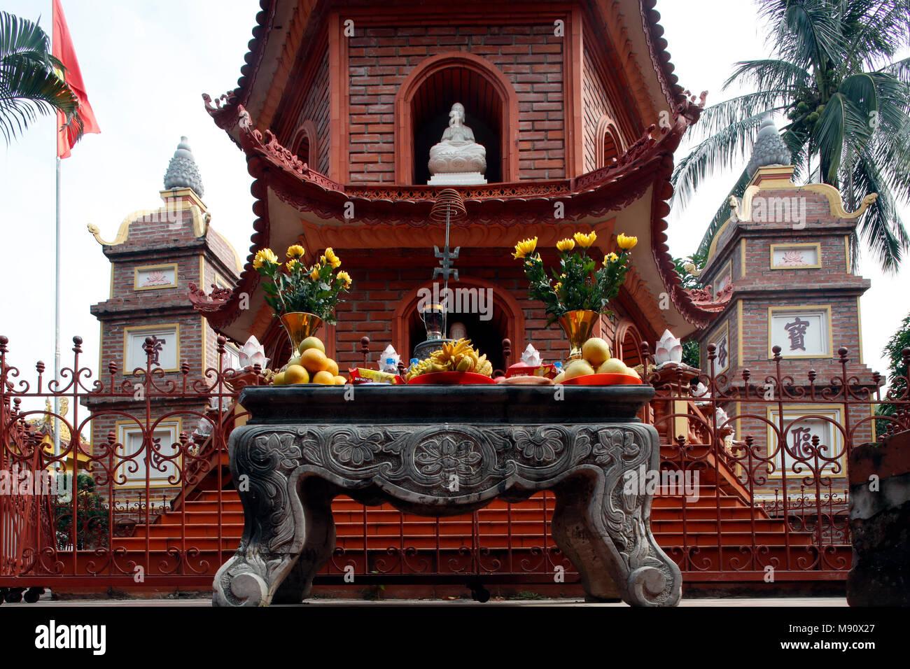 Tran Quoc Pagoda (Chua Tran Quoc), Hanoi. Vietnam. Stock Photo