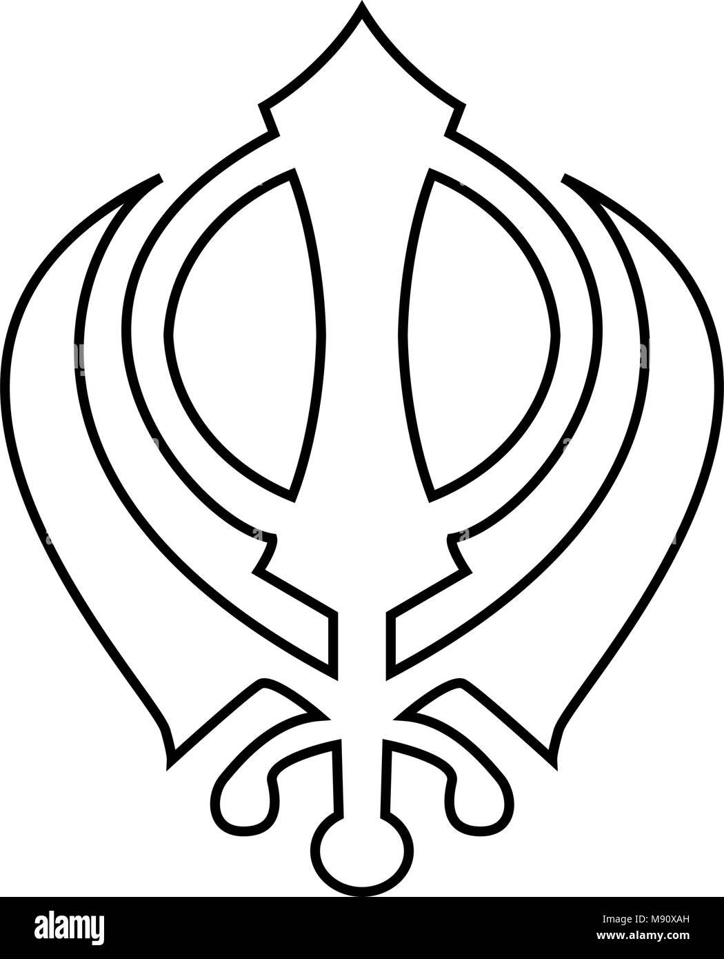 Sikh Khanda Emblem Stock Photos Sikh Khanda Emblem Stock Images