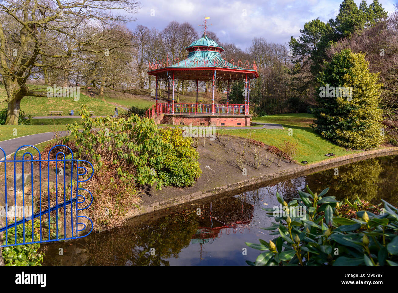 The bandstand in Sefton Park Liverpool. - Stock Image