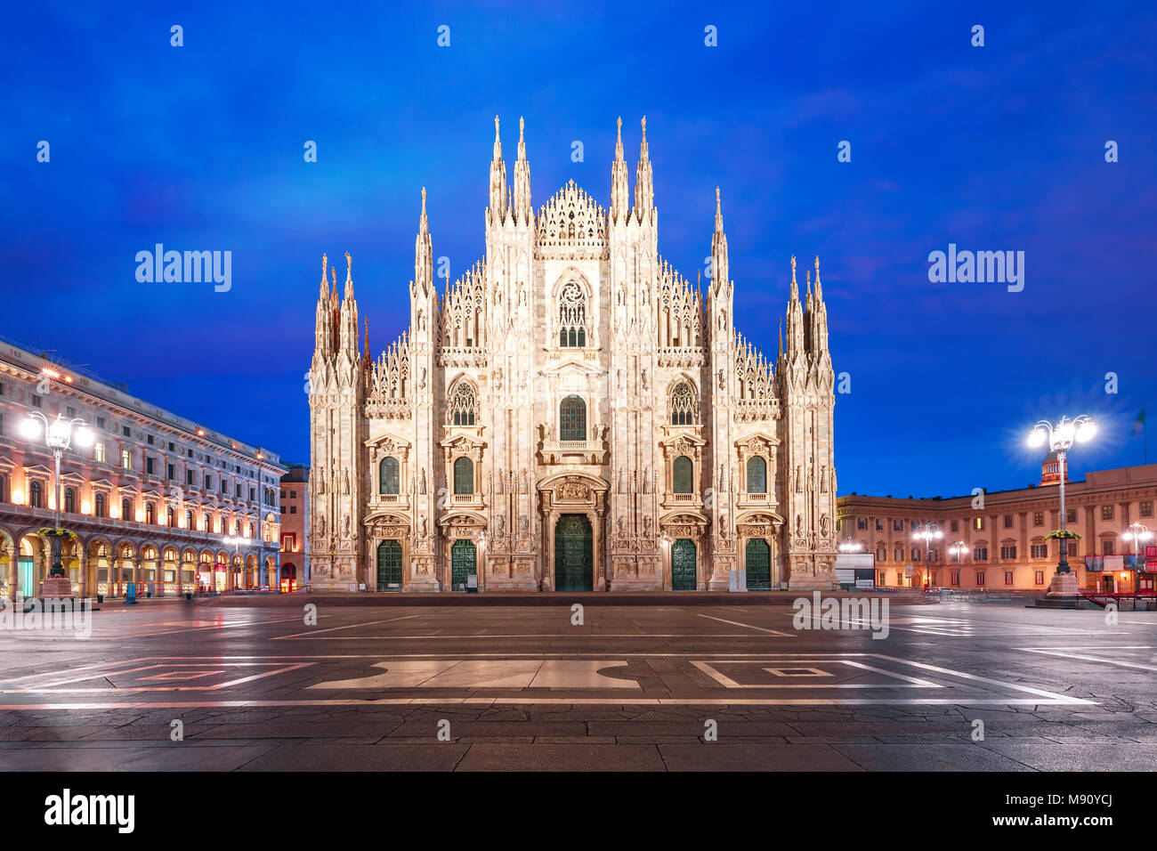 Milan Cathedral on Piazza del Duomo, Milan, Italy Stock Photo