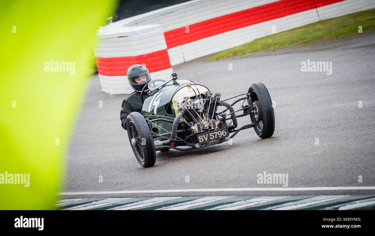 Iain Stewart in the 1929 Morgan Super Aero at the Goodwood Members Meeting 76MM in the Bolster Cup - Stock Image