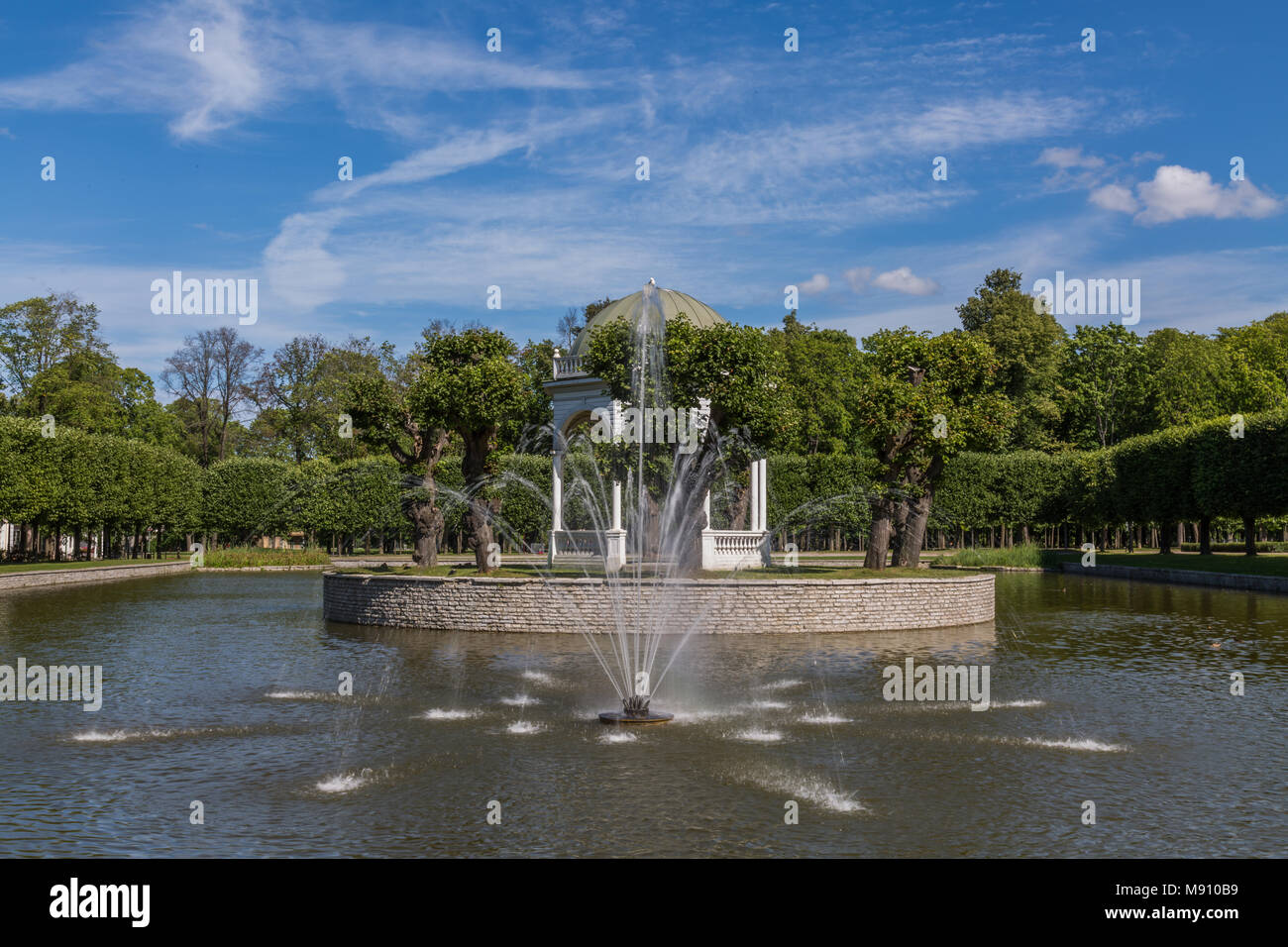 Pond And Fountains In Park Kadriorg - Stock Image