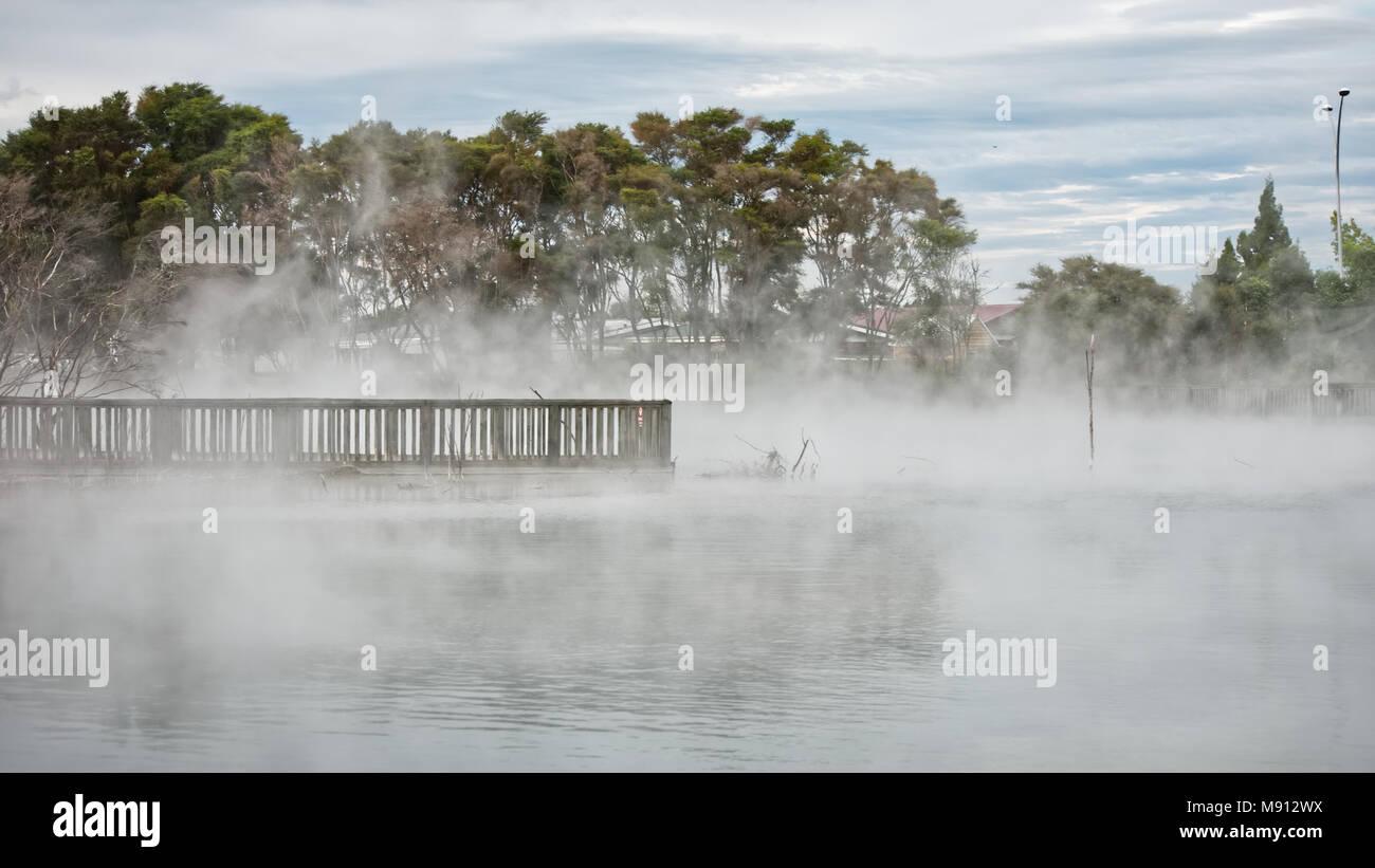 thermal lake - Stock Image