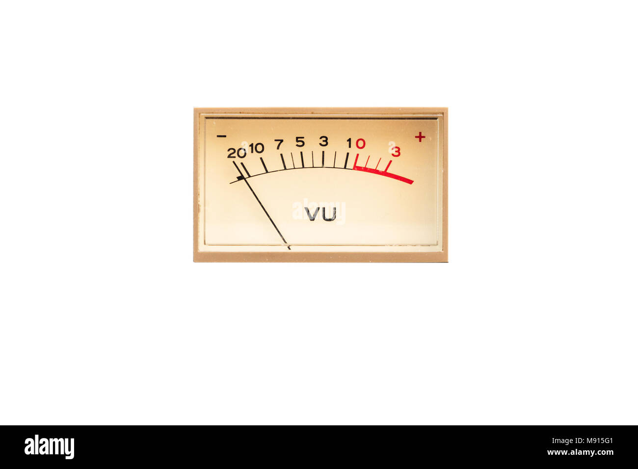 Old analog Dial indicator - Stock Image