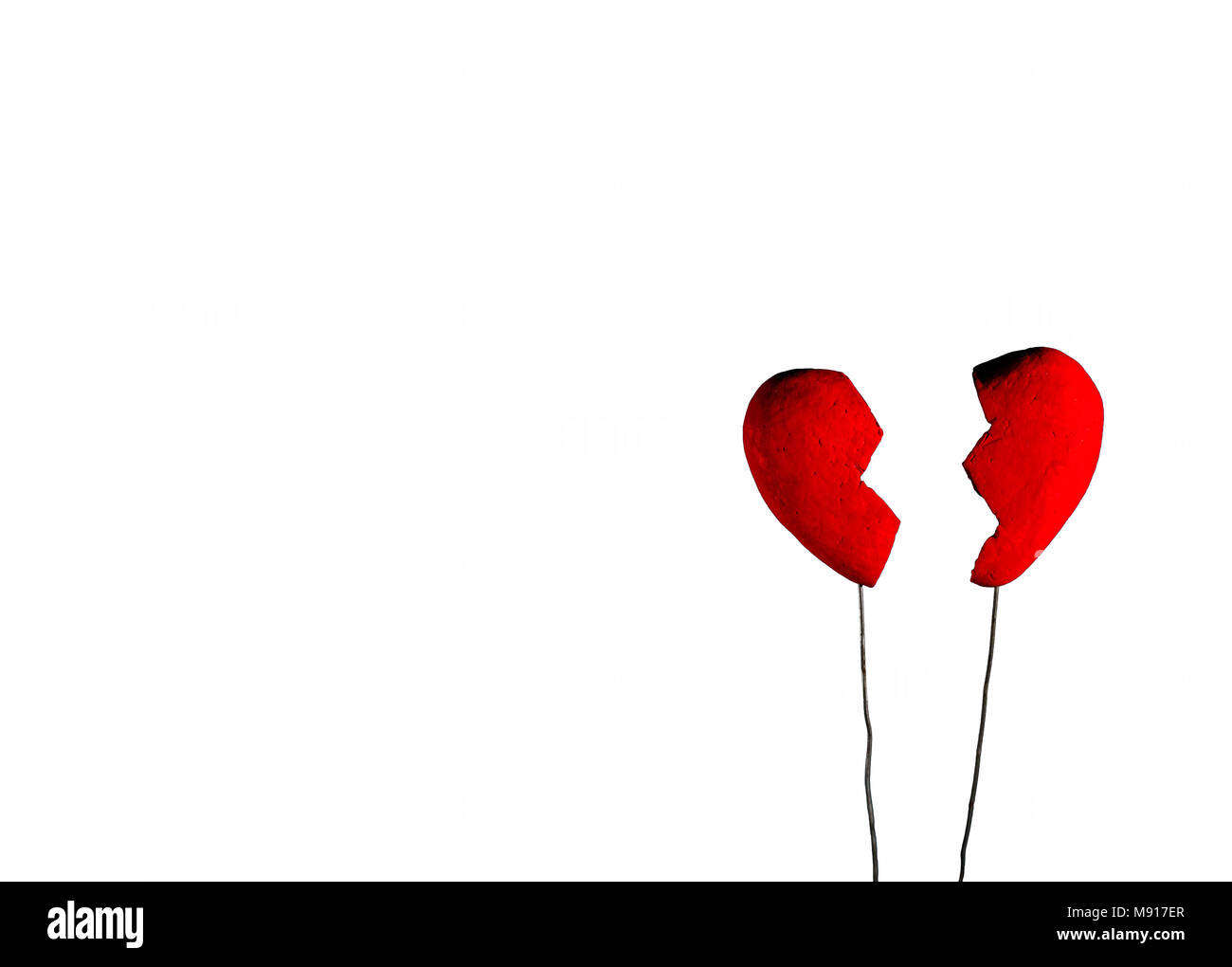 Conceptual Of Broken Heart On The White Background Stock Photo Alamy