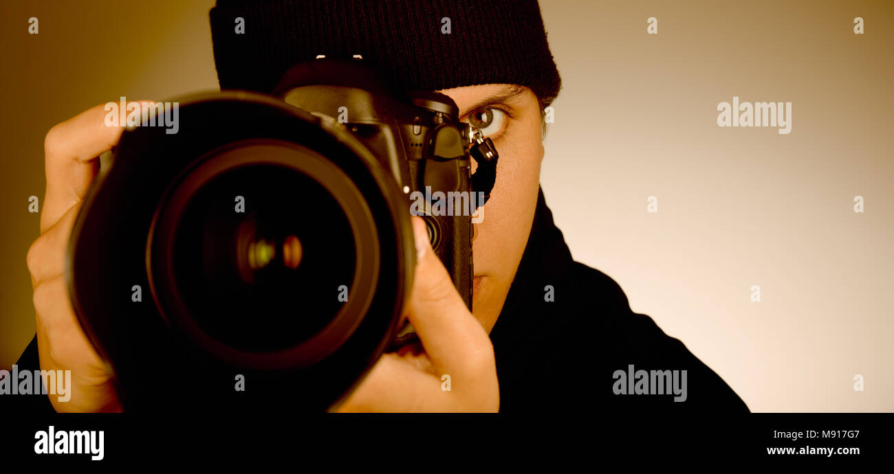 Photographer-Paparazzi - Stock Image
