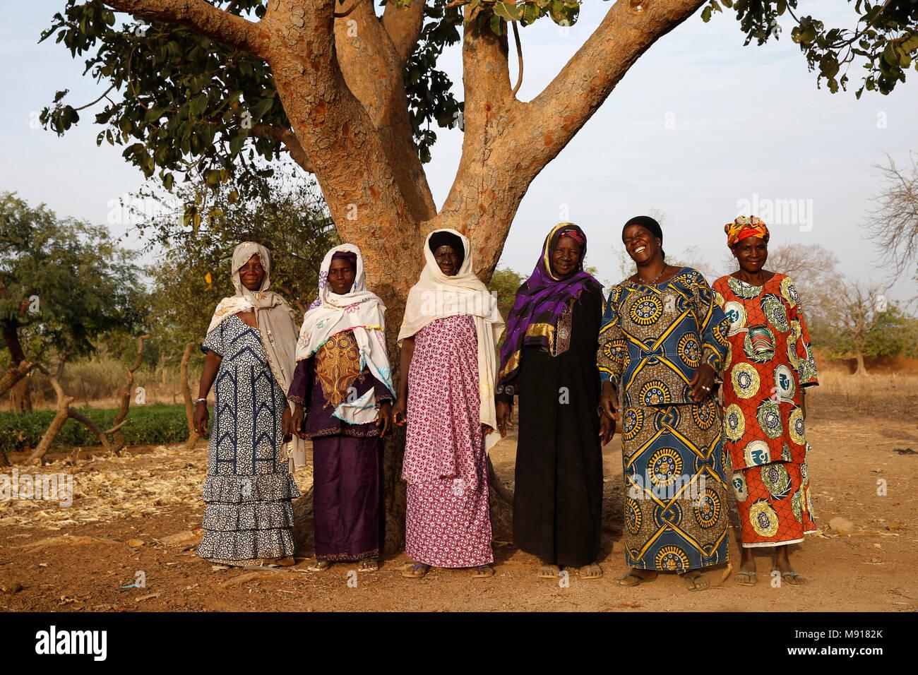 UBTEC NGO in a village near Ouahigouya, Burkina Faso. Members of a microfinance cooperative. - Stock Image