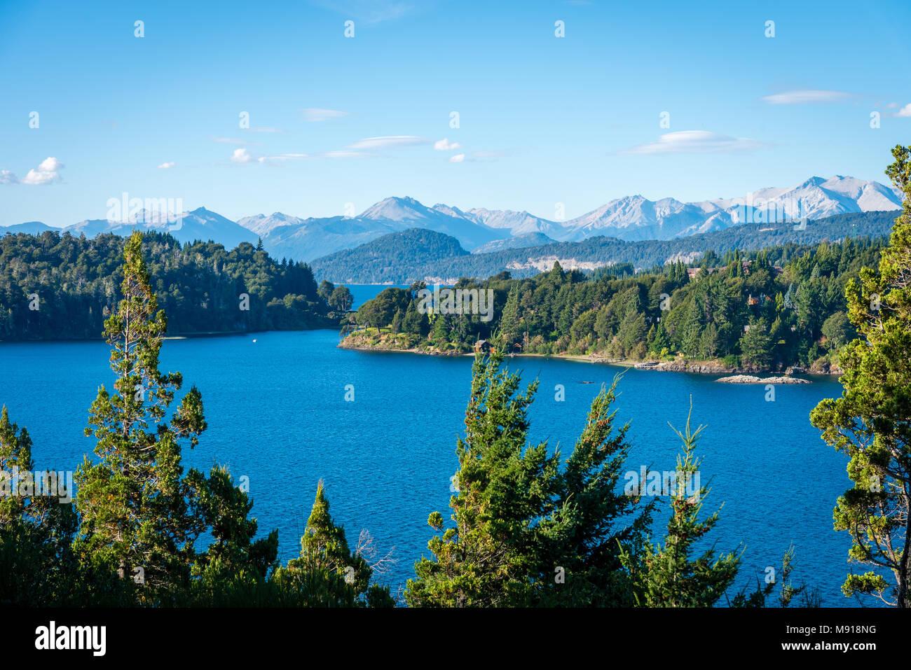 Lakes of Bariloche, Patagonia, Argentina - Stock Image