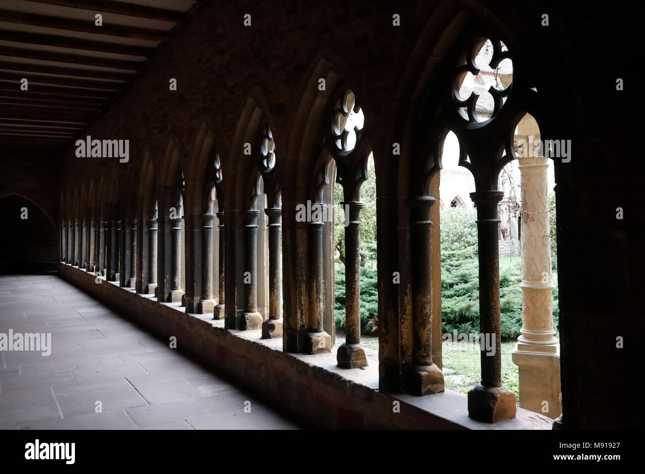 Unterlinden Museum.  The cloister.  Colmar. France. Stock Photo