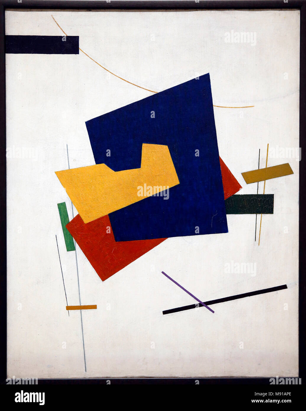 Ivan Klioune, Suprematism, 1916 (at the latest), oil on canvas, Tretiakov National gallery, Moskow. Shot while exhibited in Paris, France. - Stock Image