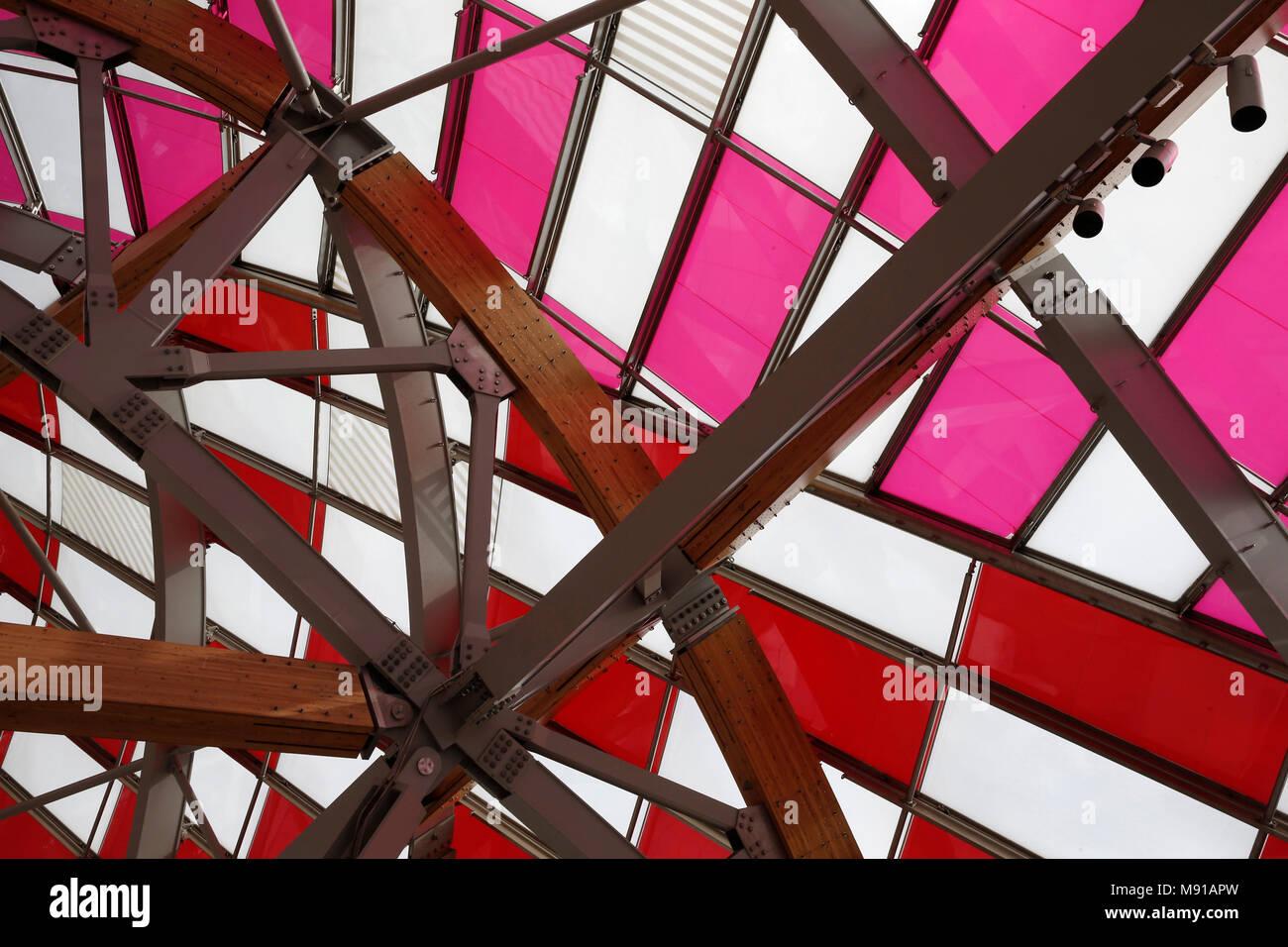Vuitton foundation roof, Paris, France. - Stock Image