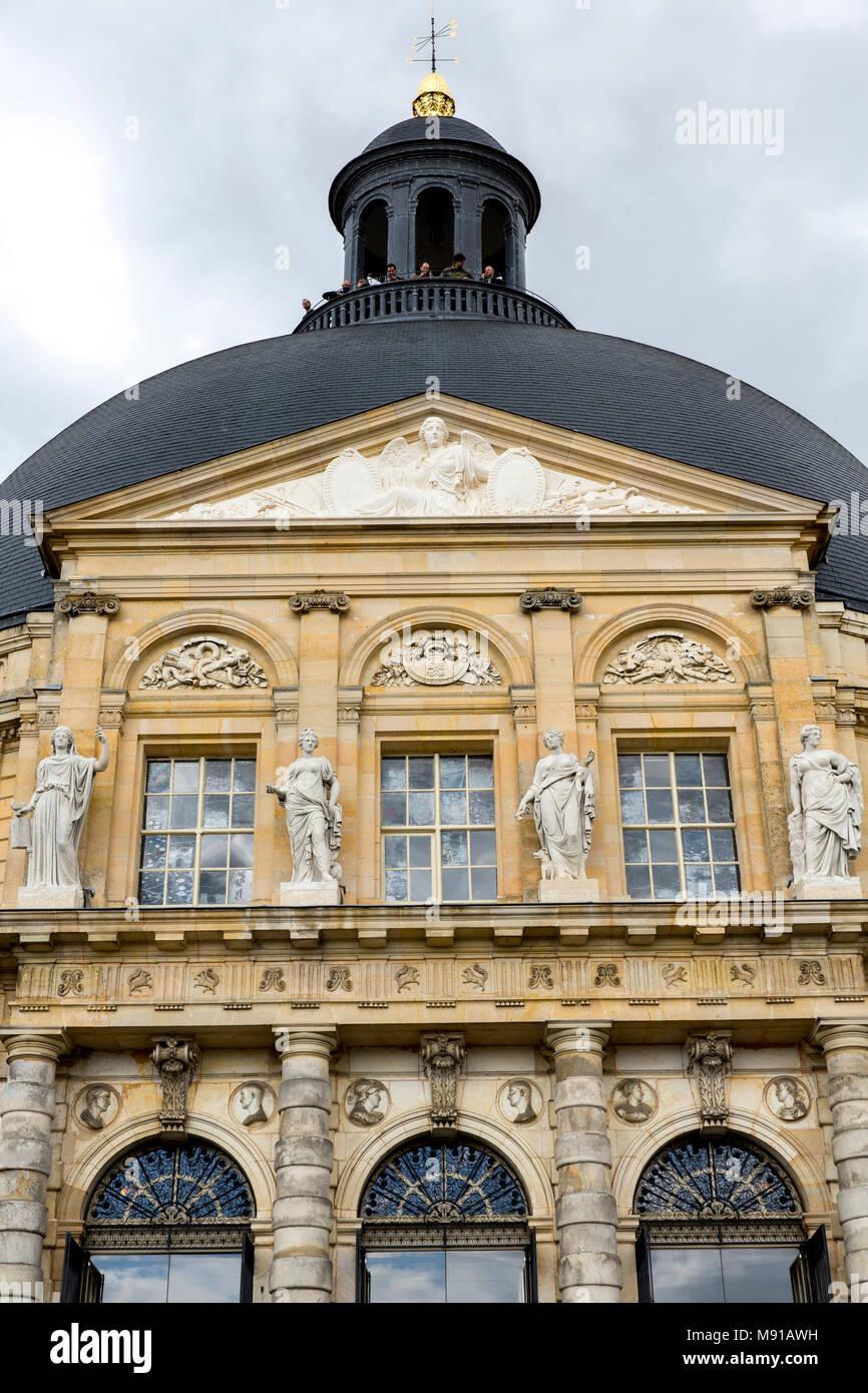 Vaux-le-vicomte castle. Architectural detail. France. - Stock Image