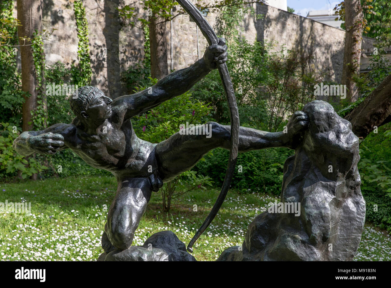 Maurice Denis Museum Saint Germain En Laye France Antoine Bourdelle Herakla S Archer Heracles With A Bow 1909 Bronze Stock Photo Alamy