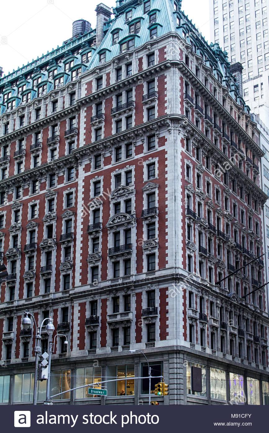 Knickerbocker hotel bricks architecture broadway New York manhattan Stock Photo