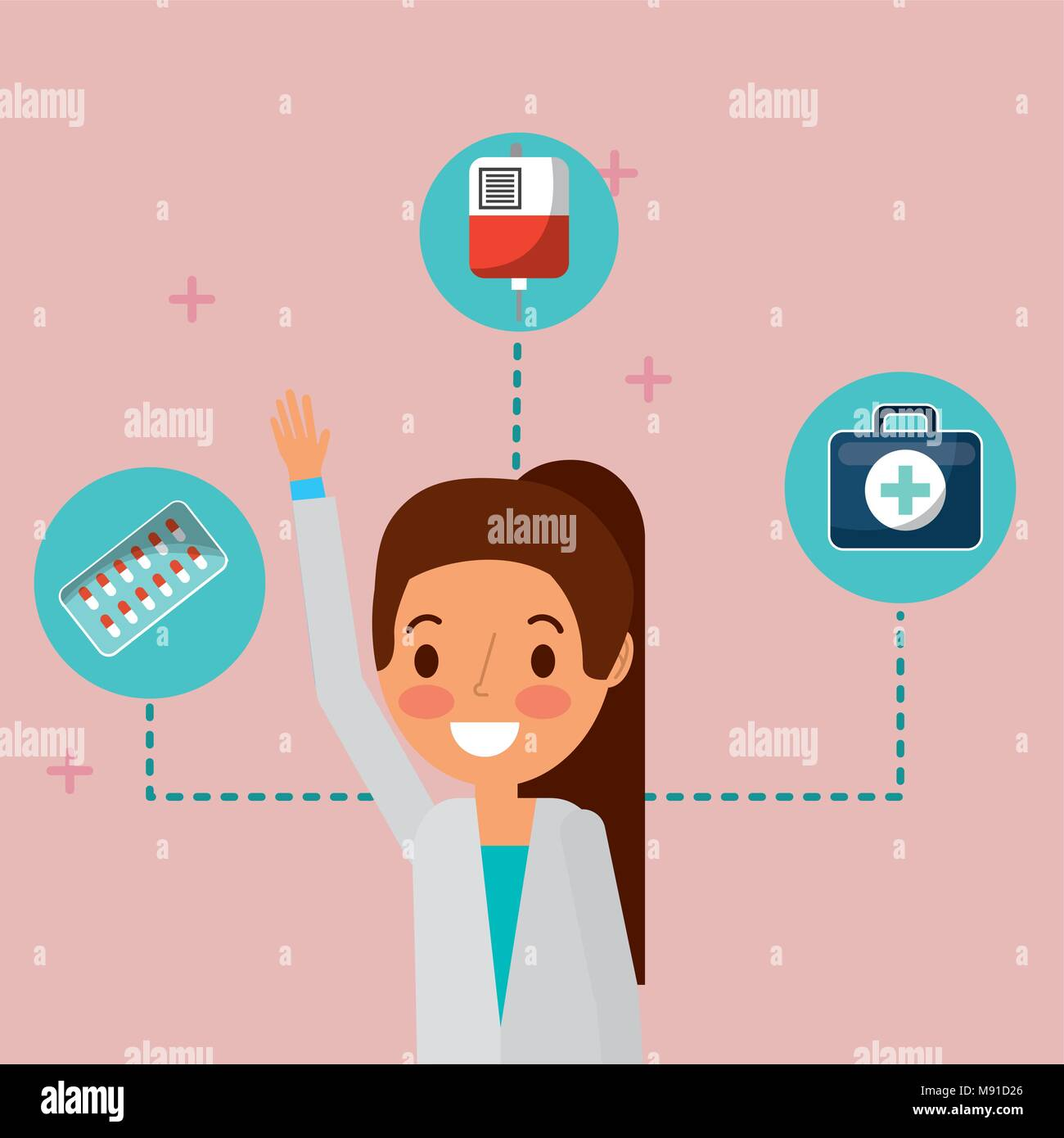 medical people professional - Stock Image