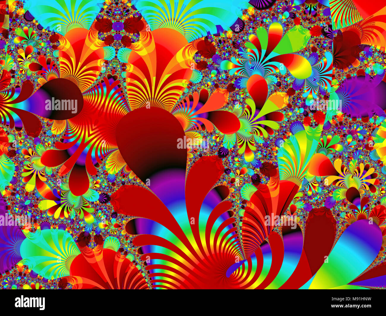 Hippy Psychedelic Desgn - Stock Image