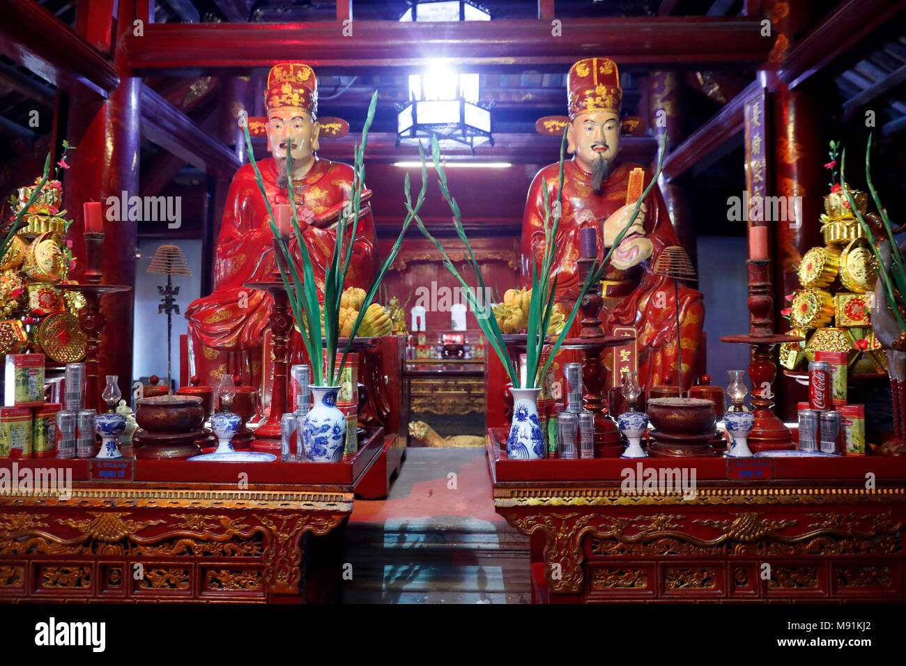 Temple of Literature.  Wise Scholars.  Hanoi. Vietnam. - Stock Image