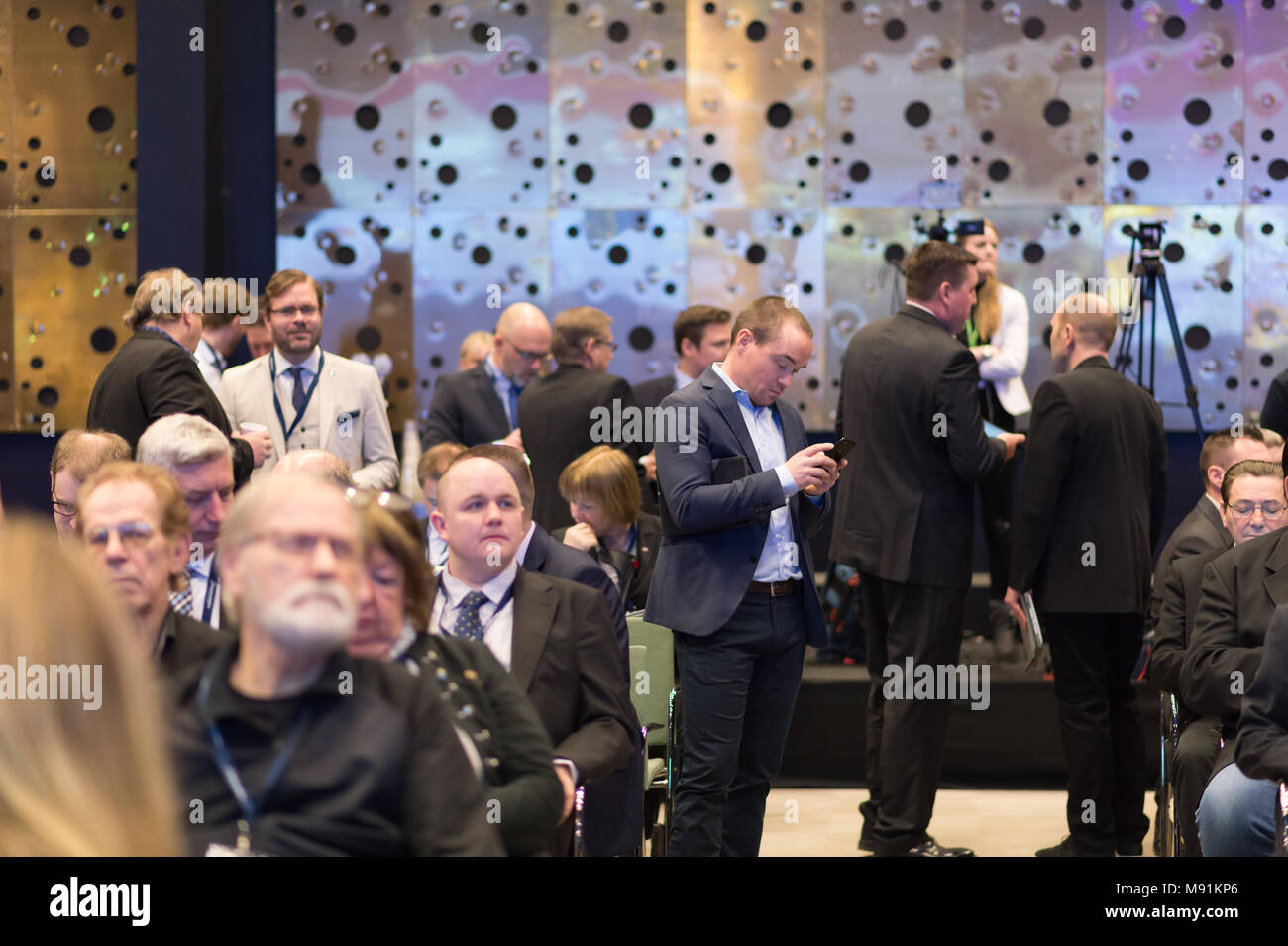 Stockholm, Sweden, March 17, 2018. Sweden Democrats (SD) Election Conference 2018. Kent Ekeroth was not on the parliamentary list and will not (after  - Stock Image