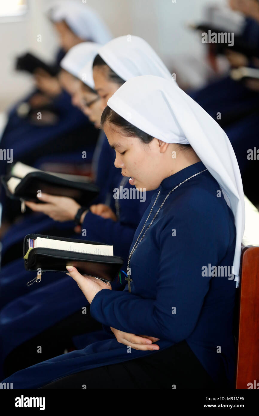 Dominican community of Bien Hoa.  Catholc sisters at service.  Vietnam. - Stock Image