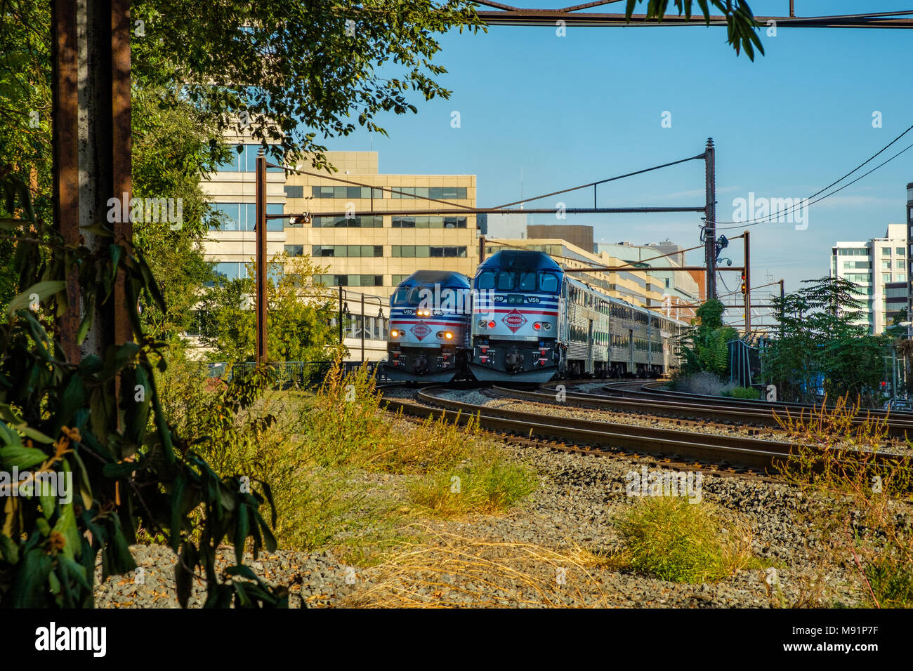 L'Enfant Plaza VRE Station, 6th Street SW, Washington DC - Stock Image