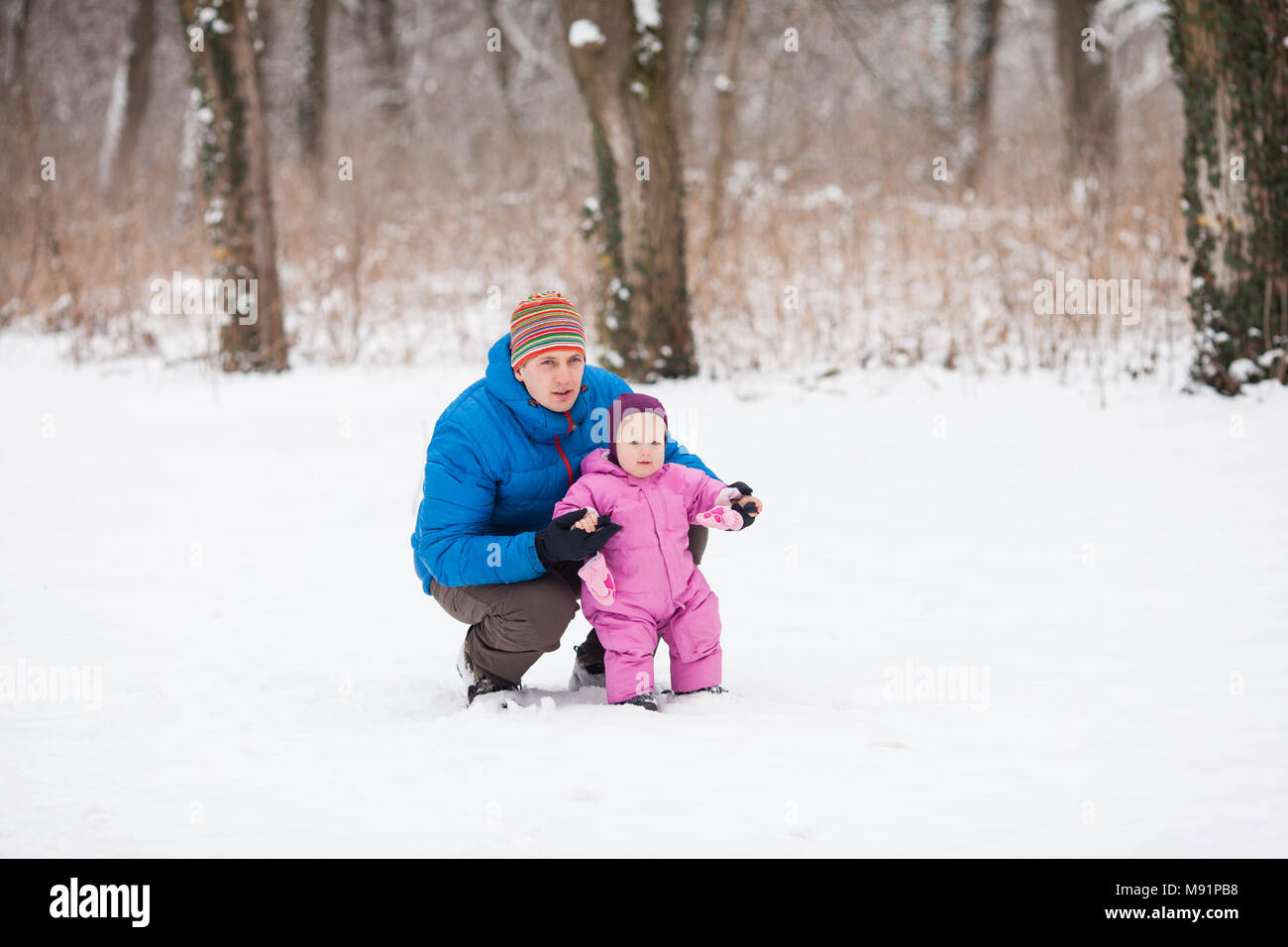 Father and baby - Stock Image