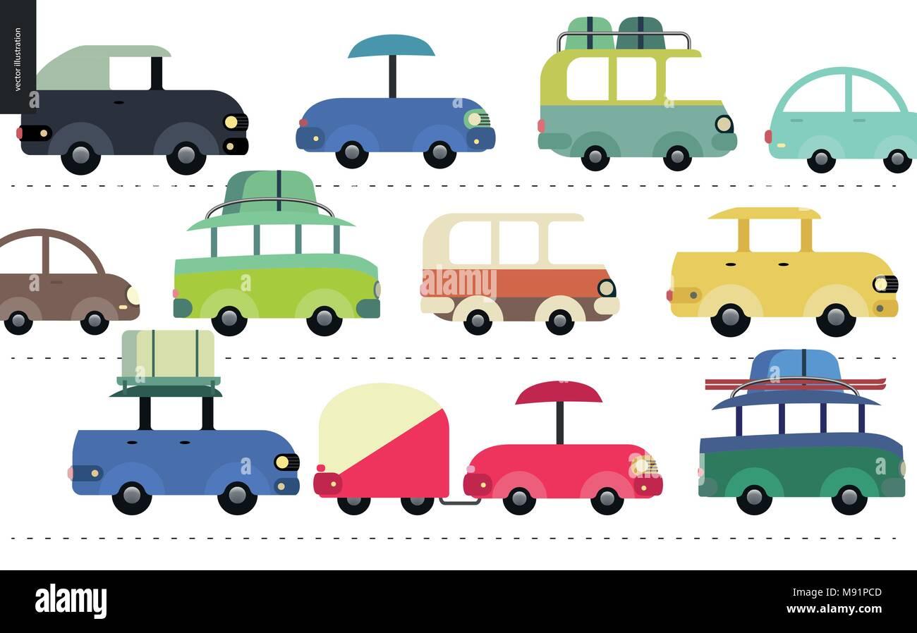 Traffic Jam Scene City Road Full Of Cars Standing In Traffic Congestion Stock Vector Image Art Alamy